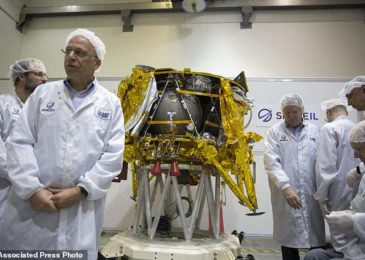 Israeli moon lander passes final tests as it gets ready to take off on February eighteenth and place a 'time capsule' on the lunar surface