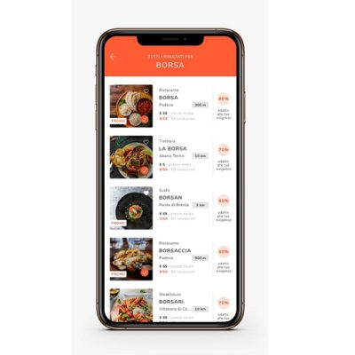 The menus of the restaurants can be customized thanks to MyCIA