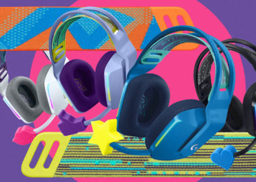 Logitech's latest colorful G733 wi-fi gaming headset can make your desk less drab