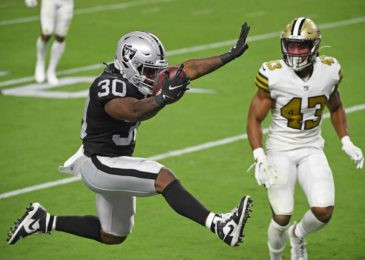 Raiders open new Las Vegas stadium with 34-24 win over Saints