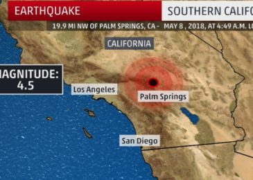 Southern California jolts by preliminary magnitude 4.5 earthquake