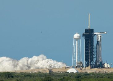 SpaceX currently test fired the Falcon 9 rocket to its astronaut launch for NASA