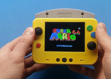 A modder has make a Nintendo 64 that is smaller than the first's controller