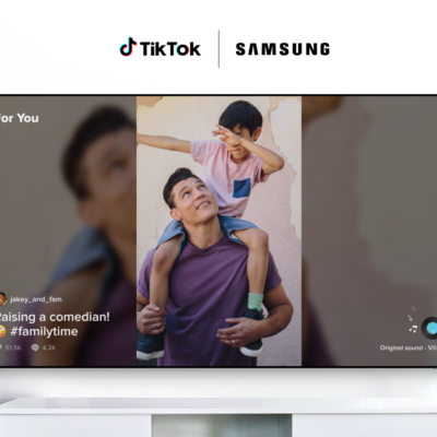 TikTok TV application currently available on Samsung smart TVs in Europe