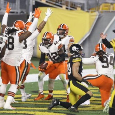 Cleveland Browns set NFL postseason record for first quarter points scored in wild-card playoff game against Pittsburgh Steelers