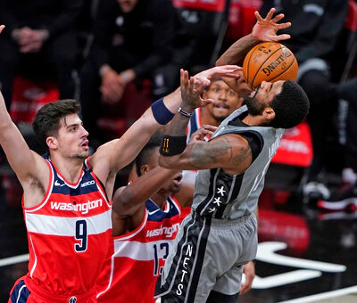 Washington Wizards edge Brooklyn Nets 123-122 after Kyrie Irving, Kevin Durant miss late