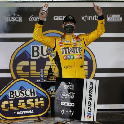 Kyle Busch wins Busch Clash after Chase Elliott takes out Ryan Blaney in final stretch