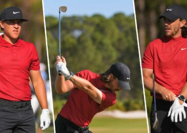 Golfers wore red and black during the WGC-Workday Championship  in honor of golf legend Tiger Woods