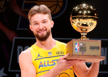 Indiana Pacers' Domantas Sabonis wins NBA Taco Bell Skills Challenge and scores first All-Star game basket